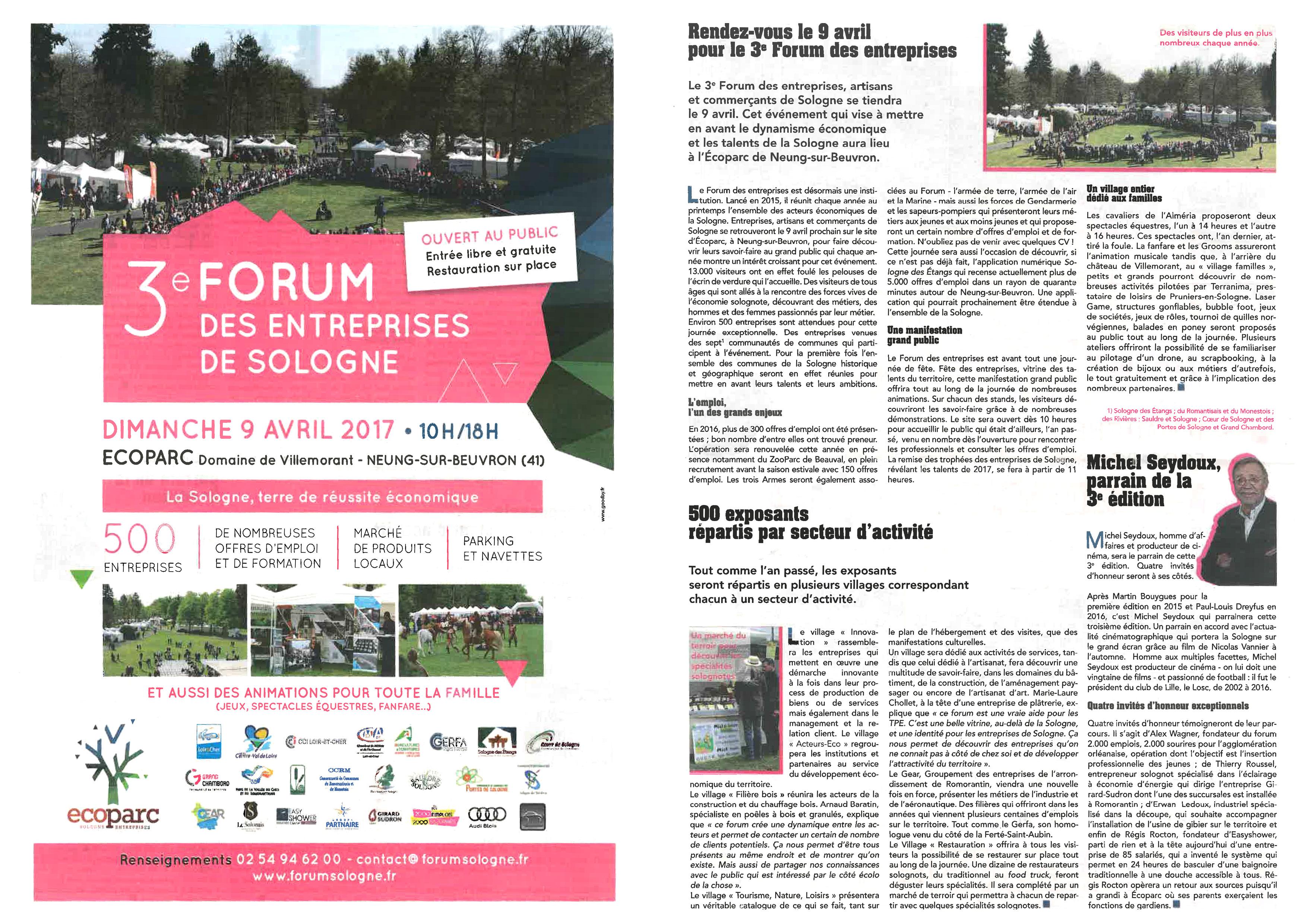 3ème forum des entreprises de Sologne