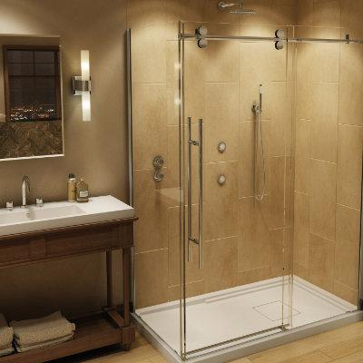 Photo du résultat de transformation d'une baignoire en douche