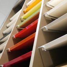 Photo de nos différents échantillons de matières et couleurs