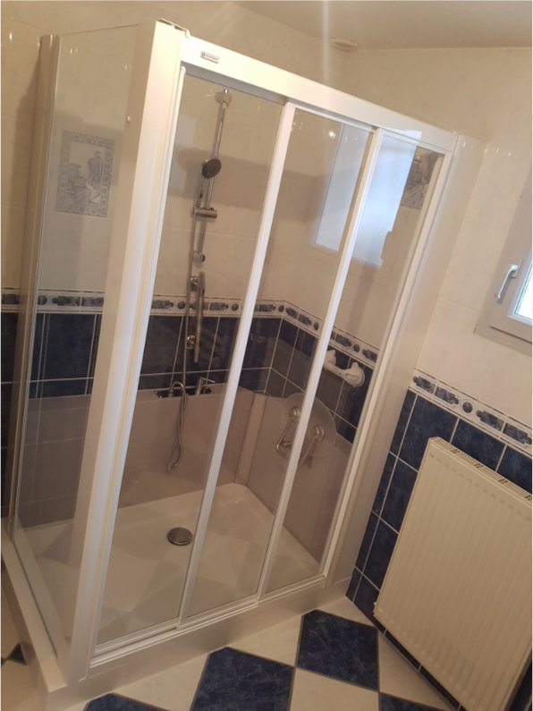 photo douche en remplacement d'une baingoire