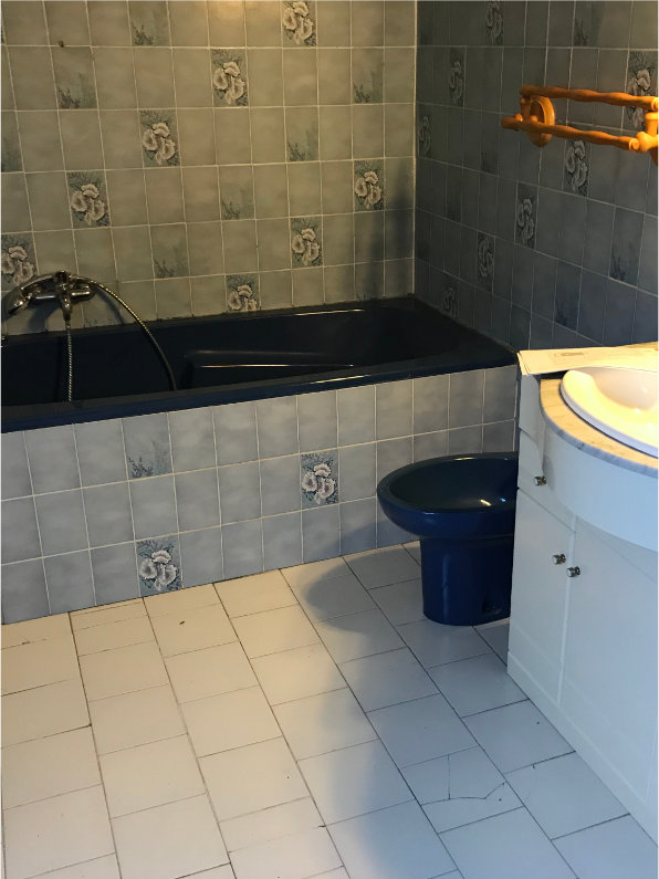 Photo avant relooking de salle de bain