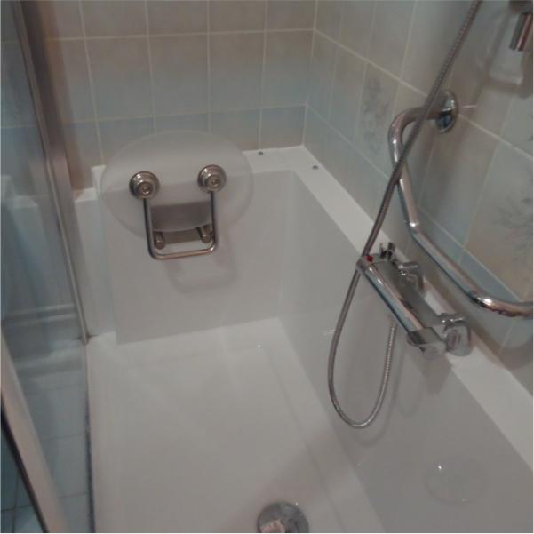 Photo de salle de bain rénovée par Easy Shower (avis client)
