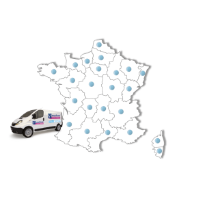 Carte de France des installateurs Easy Shower