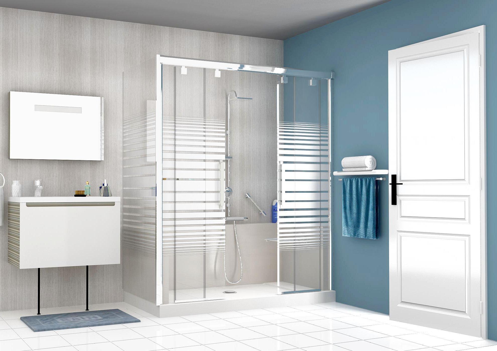 Douche vitrée Easy Shower : réalisation 3D