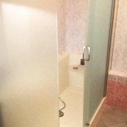 Douche avec paroi en verre Easy Shower