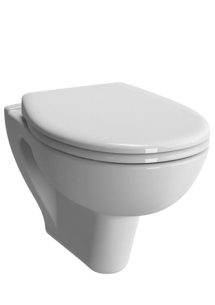 WC suspendu cuvette fermée